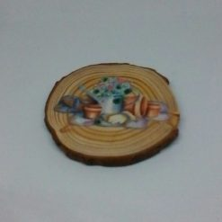 wooden flower log coasters 5