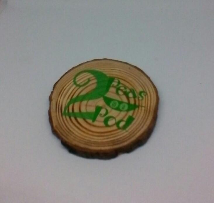 wooden log slice coaster 1