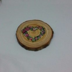 wooden flower log coasters 6