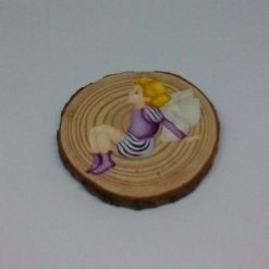 wooden fairy log slice coasters 5