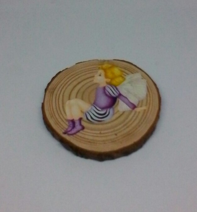 wooden fairy log slice coasters 3