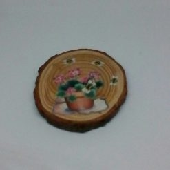 wooden flower log coasters 7