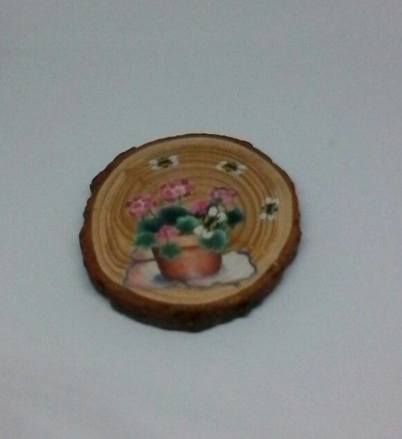 wooden flower log coasters 4