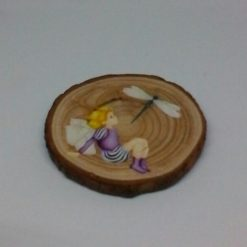 wooden fairy log slice coasters 4