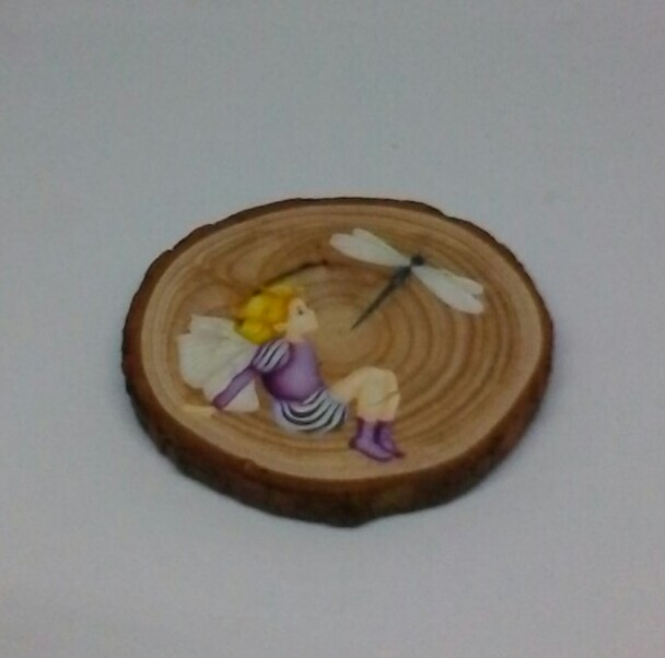 wooden fairy log slice coasters 2