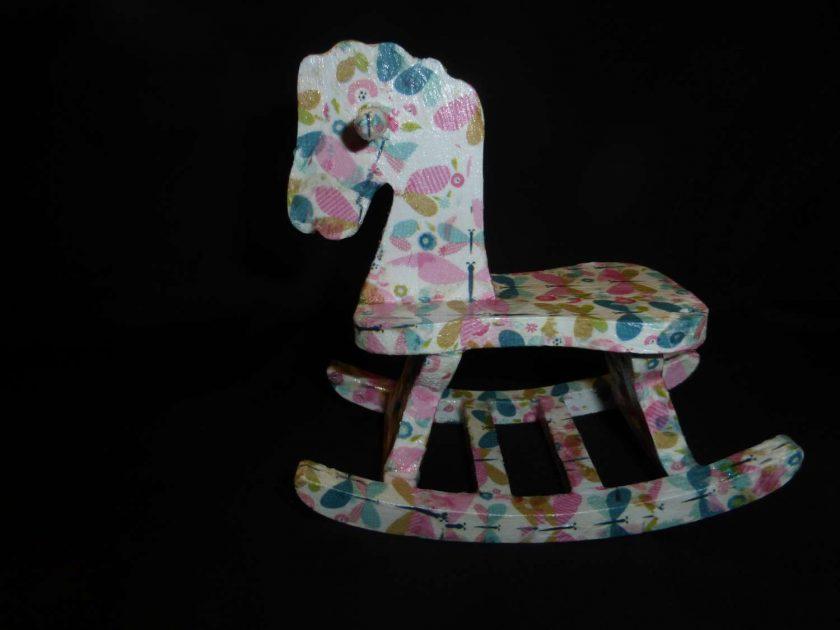 Rocking Horse - Decopatch Ornament 1