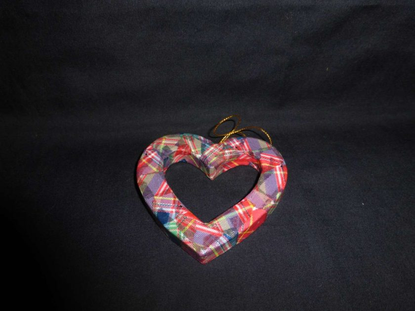 Hanging Heart - Decopatch Ornament 1