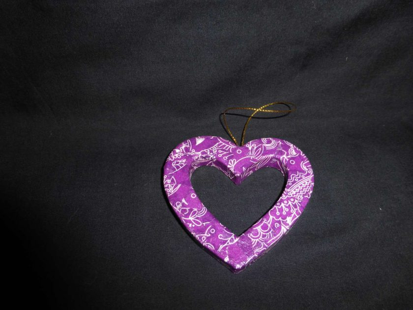 Hanging Heart - Decopatch Ornament 1