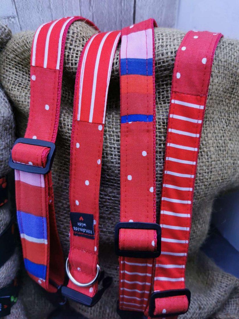 Handmade dog collars (M) Red 3
