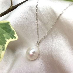 White pearl pendant, teardrop pearl necklace, classic pearl pendant, bridal ideas, wedding accessories, 30th anniversary, 21st birthday gift, 30th birthday present, special occasion jewellery 9