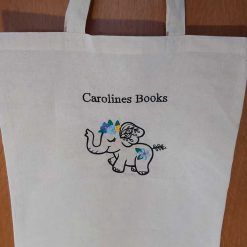 Wildflower Friends cute animal floral embroidered Cotton Tote Bag/book bag - cat, bunny, fox, elephant, unicorn, dragon 11