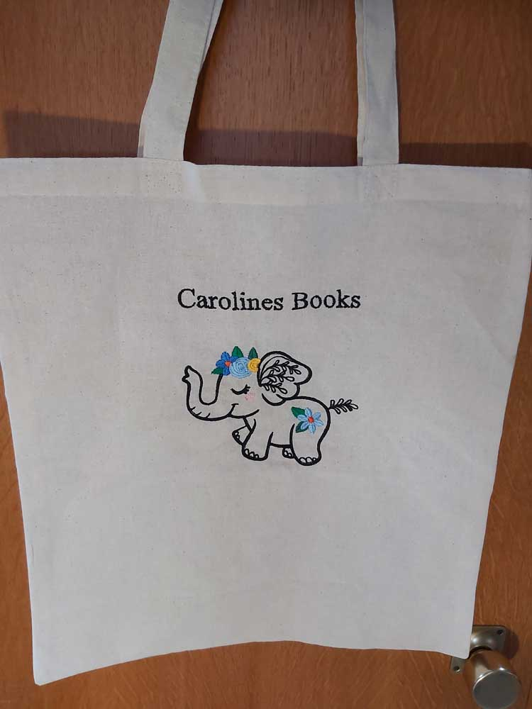 Wildflower Friends cute animal floral embroidered Cotton Tote Bag/book bag - cat, bunny, fox, elephant, unicorn, dragon 1