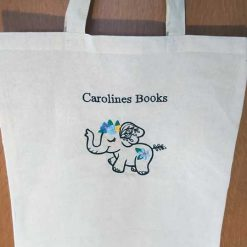 Wildflower Friends cute animal floral embroidered Cotton Tote Bag/book bag - cat, bunny, fox, elephant, unicorn, dragon 19