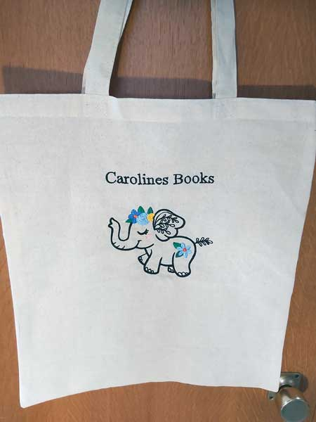 Wildflower Friends cute animal floral embroidered Cotton Tote Bag/book bag - cat, bunny, fox, elephant, unicorn, dragon 10