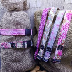 Handmade dog collars (M) pinks 12