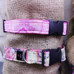 Handmade dog collars (M) pinks 13