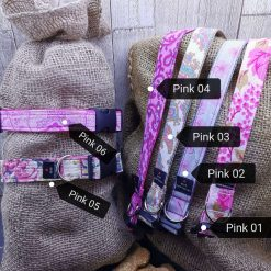 Handmade dog collars (M) pinks 15