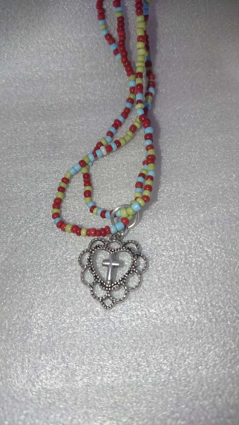 Funky Hippy Love beads necklace 1