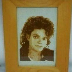 Bespoke Michael Jackson Cross Stitch