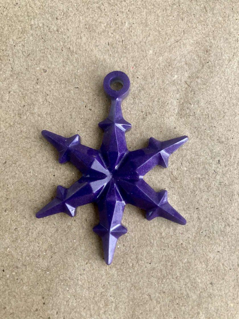Snowflake tree decorations 6