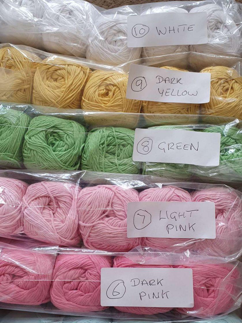 Vintage cotton 5 x 100 gr, FREE UK POSTAGE 3