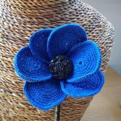 Blue Crochet poppy