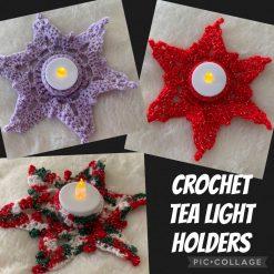 Crochet Tea Light Holders