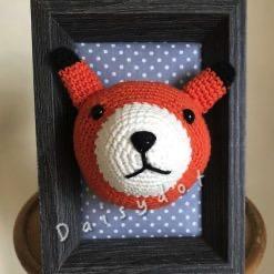 Crochet Fox Frame