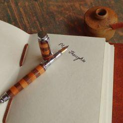 Fountain Pen in Black Walnut and Rowan 1423