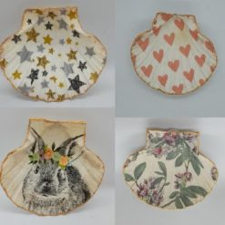 Jewellery storage - Decoupage scallop shell dishes