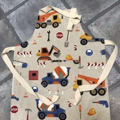 Trucks or fire engine children's apron. 2-4 years