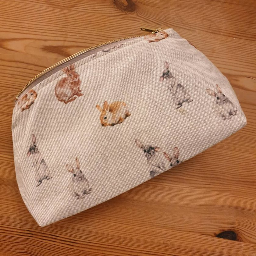 Rustic Animal Print Zipped Makeup Bag.