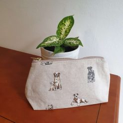 Rustic Animal Print Zipped Makeup Bag. 5