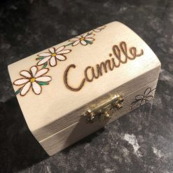 Pyrography Personalised Wooden Box, small