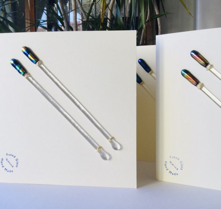 Fused Glass Cocktail Stirrers