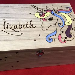 Pyrography Personalised Wooden Box, large 5