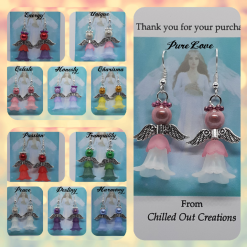 - Angelic Angels - Handmade Angel Inspired Drop Earrings - 11 colours available