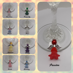 - Angelic Angels - Handmade Wine Glass Charms - Make your own set of 6 (9 colours to choose from)