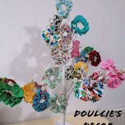Handmade 100% cotton scrunchies by Doulcie's Decor