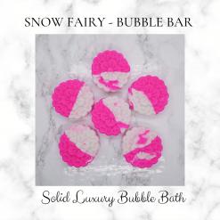 Handmade SNOW FAIRY bubble bar /solid luxury bubble bath, free postage uk ,CPSR ,vegan friendly ,cruelty free