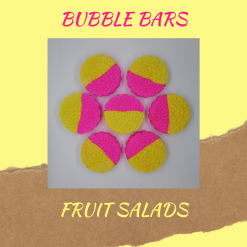 Handmade fruit salad bubble bars /solid luxury bubble bath, free postage uk ,CPSR ,vegan friendly ,cruelty free