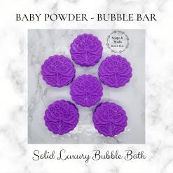Handmade baby powder bubble bar /solid luxury bubble bath