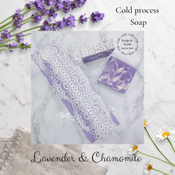 Artisan Lavender and chamomile cold process soap, free postage uk ,CPSR ,vegan friendly ,cruelty free, luxury skincare ,Bathandbeauty , Handmade soaps ,Artisan Soap ,soaps,essential oils ,lavender