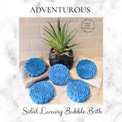 Handmade ADVENTUROUS bubble bar /solid luxury bubble bath, free postage uk ,CPSR ,vegan friendly ,cruelty free bubble bath