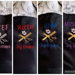 Personalised Embroidered Dog Groomer Apron
