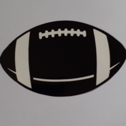 Rugby Ball vinyl decal