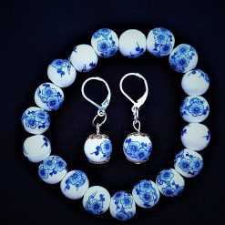Chinoiserie Earrings and Bracelet