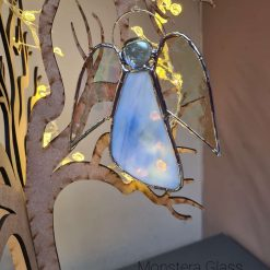 Monstera Glass- Stained Glass Angel