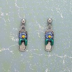 Earrings, Flip Flop Sandal - Choice of Ball Studs or Wire Hooks 5