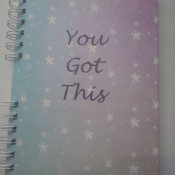 A5 Handmade hardback wirebound 'You Got This' notebook